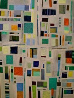 'ocean baths geometry' oil on canvas  sophie munns  2003