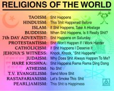 My Religion Would Be The Last On This List PEARLJAMISM OH YES - List of different religions in the world