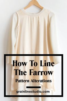 4cf78503d98 How to Line the Farrow Dress Pt. 1  Pattern Alterations - Grainline Studio.  Sewing BlogsSewing DiySewing ...