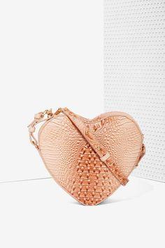 Nasty Gal x Nila Anthony I Heart You Crossbody Bag