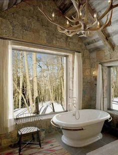 29 Stunning DIY Rustic Bathroom designs you should consider for your bathroom decor Rustic Bathroom Chandelier Rustic Bathroom Lighting, Bathroom Chandelier, Barn Bathroom, Antler Chandelier, Rustic Bathroom Designs, Rustic Bathrooms, Bathroom Plans, Bathroom Ideas, Rustic Lighting