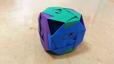 636 Origami 종이접기 (큐브) Cube 색종이접기 摺紙 折纸 оригами 折り紙 اوريغامي