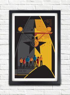 The Original Star Trek Series - All Original crew  - 17x11 Poster
