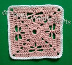 How to crochet a coaster/mat with a dragonfly stitch design. Can also be used to make blankets, granny squares, table cloths etc.