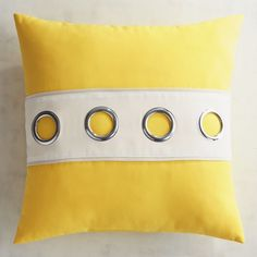 Cabana Grommet Lemon Pillow | Pier 1 Imports
