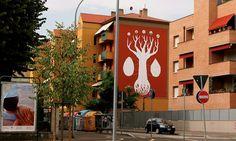 Graffiti que absorve poluição do ar
