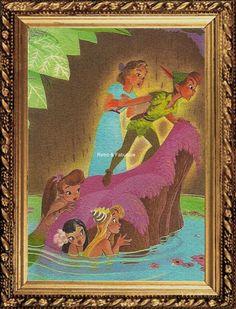 PETER PAN And Wendy ART, In Mermaid Lagoon,Buy Two Get One Free