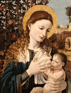 Madonna and Child, by Bergognone, Accademia Carrara, Bergamo.