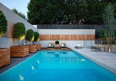 déco de mur extérieur de jardin et de terrasse avec piscine