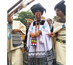 Women in their traditional Xhosa outfits take part in the Indoni SA Cultural Festival on October .