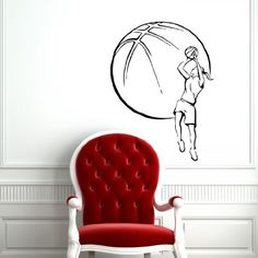 Wall Vinyl Decals Female Girl Basketball Player with Ball Sport Sticker Art Home Modern Stylish Interior Decor for Any Room Housewares Murals Design Window Graphic Bedroom Living Room (5226) stickergraphics http://www.amazon.com/dp/B00IWQIS3K/ref=cm_sw_r_pi_dp_ABrWtb0DTQ7QFW30