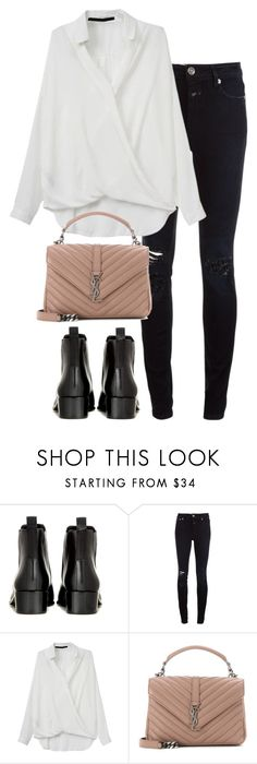 """Untitled #3023"" by elenaday ❤ liked on Polyvore featuring Acne Studios, Closed and Yves Saint Laurent"