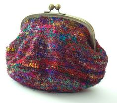 My Bagatelle Pattern Crayon Cuties Purse Felted Knit Crochet Clutch 907611e976