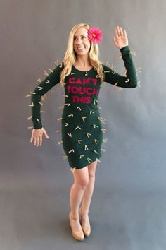 DIY cactus costume: http://www.stylemepretty.com/living/2016/10/15/50-genius-costume-ideas-for-everyone-from-your-puppy-to-your-squad/