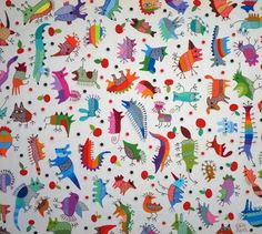 "My textiles ""Шмякосмики"". Вишивка by Ivan Semesyuk, via Behance"