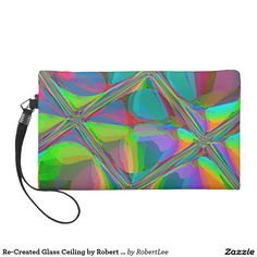 Re-Created Glass Ceiling by Robert S. Lee Wristlet Purses#Robert #S. #Lee #art #graphic #design #colors #bag #wristlet #purse #ladies #girls #women #love #style #fashion #accessory #for #her #gift #want #need #love #customizable