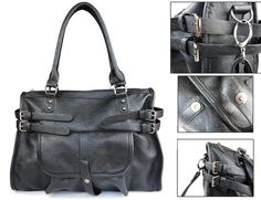 Leather Strapped Handbag | Pyrefly