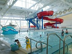 """East Portland Community Center & Indoor Pool.  740 SE 106th Ave.  basketball court – indoor, community center, fitness room, gymnasium, playground, rock climbing wall, swim pool – indoor, a """"lazy river,"""" and vortex pool, and weight room."""
