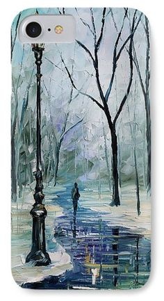 Winter Light Phone Case by Leonid Afremov