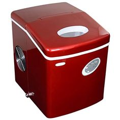 NewAir AI100R 28Pound Portable Icemaker Red >>> Want to know more, click on the image.