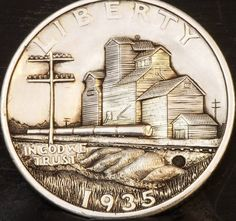 ....SOLD.... Hobo Nickel, Coin Art, Ranger, Stamps, Carving, Personalized Items, Note Cards, Art, Seals