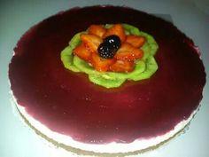 Cheesecake con gelé fragole e more