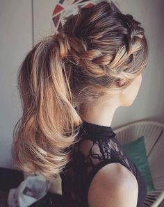 Braid into a Ponytail Hairstyle