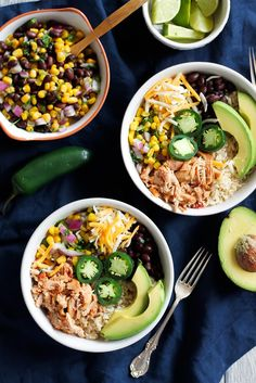 clean eating chicken burrito bowls