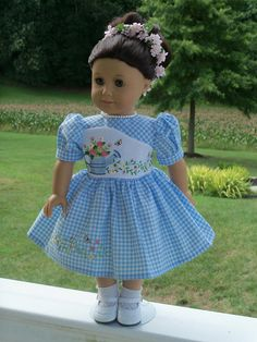 8b1d744694f3 Like American Girl Doll Clothes / Embroidered Dress and Shoes / 18 Inch Doll  Clothes by Farmcookies fits American Girl