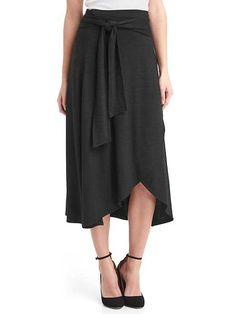 Gap softspun midi wrap skirt
