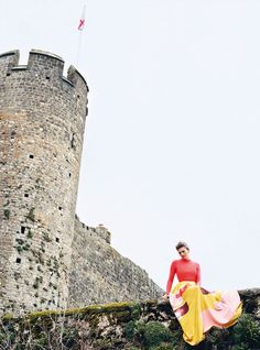 I Capture the Castle: Amber Anderson by Koto Bolofo for Harper's Bazaar UK July 2015 - Roksanda Heart Photography, Fashion Photography, I Capture The Castle, Castle Wall, Old Farm Houses, Poses, Harpers Bazaar, Beautiful Outfits, Beautiful Clothes