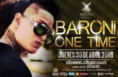 """Cresta Metálica Producciones » El Molino presenta: """"BARONI ONE TIME"""" (Caracas) // 30 Abril 2015"""