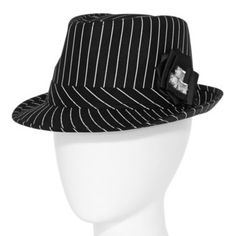 7fe8fb9c7d0 Pinstripe Fedora Hat with Rosette found at  JCPenney All Brands