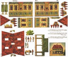 German Gasthaus Vintage Paper Model - Preserved And Shared by Papermau