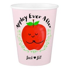 Positive Apple Pun - Appley Ever After Paper Cup - decor gifts diy home & living cyo giftidea