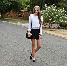 Get this look: http://lb.nu/look/7937148  More looks by Nikki S: http://lb.nu/fashionablepassion  Items in this look:  Gucci Bag   #chic #classic #minimal #monochrome #southafrica #gucci #skort #summer #casual