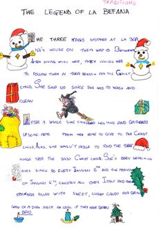 An adorable version of the story of La Befana. Of course, since the tradition of La Befana (by some other name, unknown to us today) precedes the tale of the magi, this fable is just that - a fable. Christmas In Italy, Merry Christmas Everyone, Xmas, Witch Coloring Pages, Coloring Pages For Kids, Holidays Around The World, Holidays With Kids, Italian Christmas Traditions, Holiday Classrooms