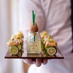 I'll take 10 of these, thanks. - Mini Patron Margaritas.