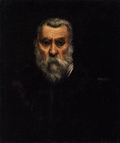 "Tintoretto (Jacopo Robusti, 1518, Venezia - 1594, Venezia), ""Autoritratto"" / ""Self-Portrait"", ca. 1588, Olio su tela / Oil on canvas, 63 x 52 cm, Musée du Louvre, Paris"
