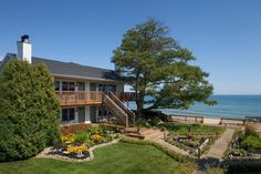 Huron House Bed and Breakfast, Oscoda, MI.This B&B is couples only and for good reason; this romantic rendezvous sits above the shores of Lake Huron listening to waves lap against the shore. Oscoda Michigan, Lake Michigan, Michigan Vacations, Michigan Travel, Romantic Beach, Romantic Places, Romantic Travel, Romantic Vacations, Romantic Getaways