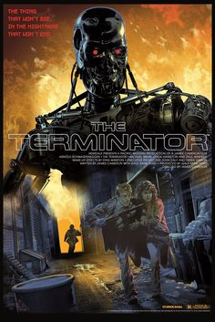 """""""The Terminator"""" by Stan & Vince.  24"""" x 36"""" 9-color Screenprint.  Ed of 325 N.  £43 ($60)"""