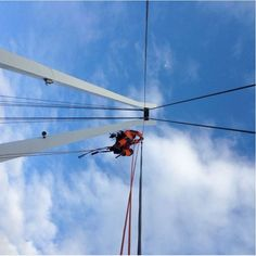 Bridge works are among our favourite #ropeaccess #safety #bridge #heights