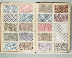 Textile Sample Book  Date:1850–1900Culture:French