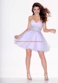 Ballkleid A-linie Günstige Kurze Abendkleider Style 9210 Beaded Tulle