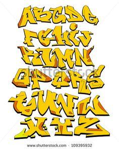 Graffiti alphabet Stockfotos und -bilder   Shutterstock