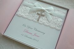 Christening #baptism first holly communion card personalised #handmade #boxed ,  View more on the LINK: http://www.zeppy.io/product/gb/2/252244129227/