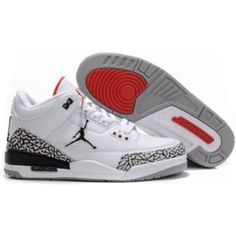 outlet store a6b2e caf5a Air Jordan 3 Retro White Black Cement Grey is now available. This classic  basketball shoe features materials including suede and a quilted leather  upper.