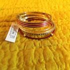 ♤❞ JESSICA SIMPSON NEW RED & GOLD-TONE WRAPPED ATTACHED SET OF BANGLE  BRACELETS http://ebay.to/2cz66Yj