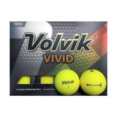 Volvik Crystal Vivid Golf Balls Matte Yellow 1 Dozen