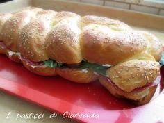 Treccia di pan brioche salata